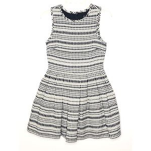 Topshop fit and flare embroidered dress Size 4